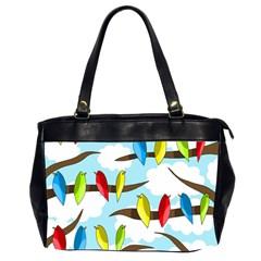 Parrots flock Office Handbags (2 Sides)