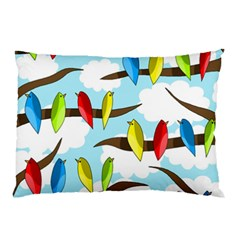 Parrots flock Pillow Case (Two Sides)