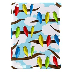 Parrots flock Apple iPad 3/4 Hardshell Case (Compatible with Smart Cover)