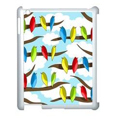 Parrots flock Apple iPad 3/4 Case (White)