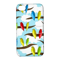 Parrots flock Apple iPhone 4/4S Hardshell Case with Stand