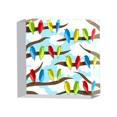 Parrots flock 4 x 4  Acrylic Photo Blocks