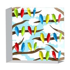 Parrots flock 5  x 5  Acrylic Photo Blocks