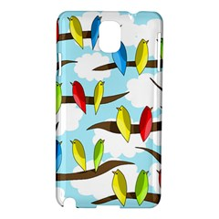 Parrots flock Samsung Galaxy Note 3 N9005 Hardshell Case