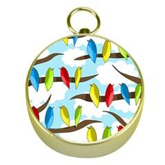Parrots flock Gold Compasses