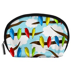 Parrots flock Accessory Pouches (Large)