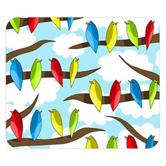 Parrots flock Double Sided Flano Blanket (Small)