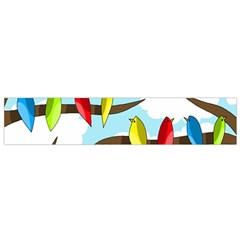 Parrots flock Flano Scarf (Small)