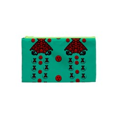 Dancing In Polka Dots Cosmetic Bag (xs)