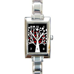 Simply decorative tree Rectangle Italian Charm Watch