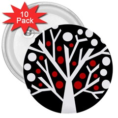 Simply decorative tree 3  Buttons (10 pack)
