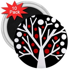 Simply decorative tree 3  Magnets (10 pack)