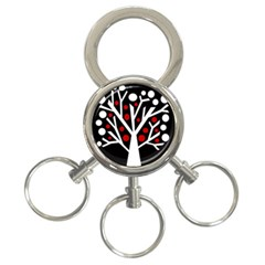 Simply decorative tree 3-Ring Key Chains