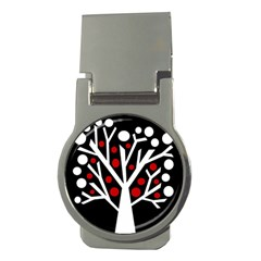 Simply decorative tree Money Clips (Round)