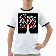 Simply decorative tree Ringer T-Shirts