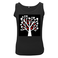 Simply decorative tree Women s Black Tank Top