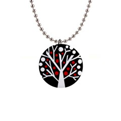 Simply decorative tree Button Necklaces