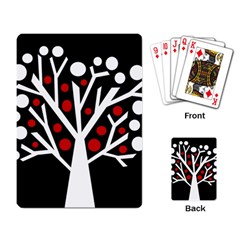 Simply decorative tree Playing Card