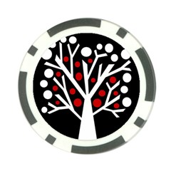 Simply decorative tree Poker Chip Card Guards