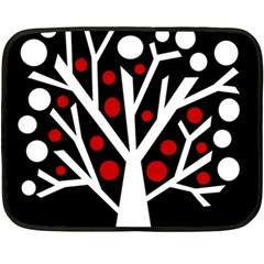 Simply decorative tree Double Sided Fleece Blanket (Mini)