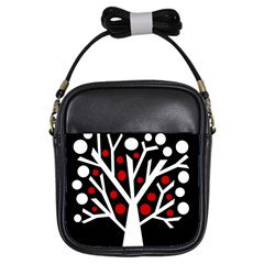 Simply decorative tree Girls Sling Bags