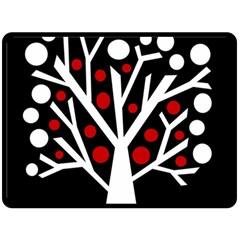 Simply decorative tree Fleece Blanket (Large)