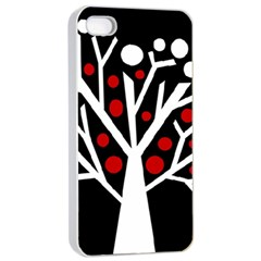 Simply decorative tree Apple iPhone 4/4s Seamless Case (White)