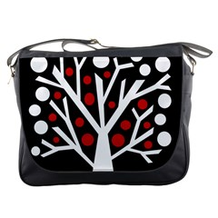 Simply decorative tree Messenger Bags