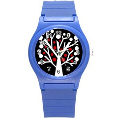 Simply decorative tree Round Plastic Sport Watch (S)