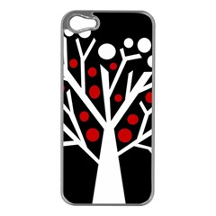 Simply decorative tree Apple iPhone 5 Case (Silver)