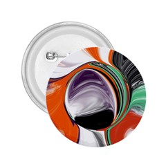 Abstract Orb In Orange, Purple, Green, And Black 2 25  Buttons