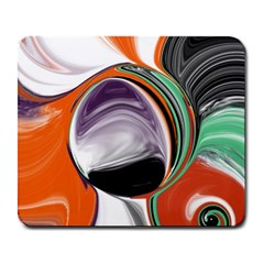 Abstract Orb In Orange, Purple, Green, And Black Large Mousepads