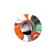 Abstract Orb In Orange, Purple, Green, And Black Golf Ball Marker (4 Pack)