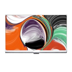 Abstract Orb In Orange, Purple, Green, And Black Business Card Holders