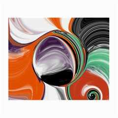 Abstract Orb in Orange, Purple, Green, and Black Small Glasses Cloth