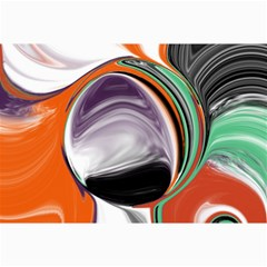 Abstract Orb in Orange, Purple, Green, and Black Collage Prints