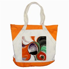Abstract Orb In Orange, Purple, Green, And Black Accent Tote Bag