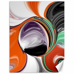 Abstract Orb in Orange, Purple, Green, and Black Canvas 12  x 16