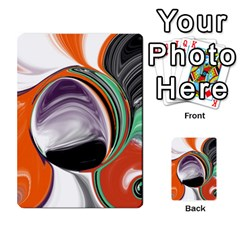 Abstract Orb in Orange, Purple, Green, and Black Multi-purpose Cards (Rectangle)