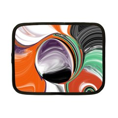 Abstract Orb in Orange, Purple, Green, and Black Netbook Case (Small)