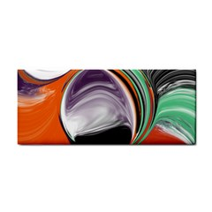 Abstract Orb In Orange, Purple, Green, And Black Hand Towel