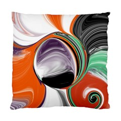 Abstract Orb in Orange, Purple, Green, and Black Standard Cushion Case (Two Sides)