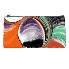 Abstract Orb in Orange, Purple, Green, and Black Pencil Cases