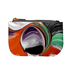 Abstract Orb In Orange, Purple, Green, And Black Mini Coin Purses