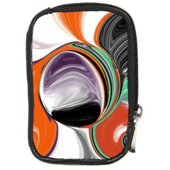Abstract Orb In Orange, Purple, Green, And Black Compact Camera Cases