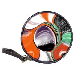 Abstract Orb In Orange, Purple, Green, And Black Classic 20 Cd Wallets