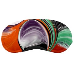 Abstract Orb In Orange, Purple, Green, And Black Sleeping Masks