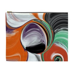 Abstract Orb in Orange, Purple, Green, and Black Cosmetic Bag (XL)