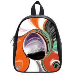 Abstract Orb in Orange, Purple, Green, and Black School Bags (Small)