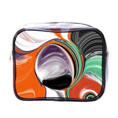 Abstract Orb In Orange, Purple, Green, And Black Mini Toiletries Bags